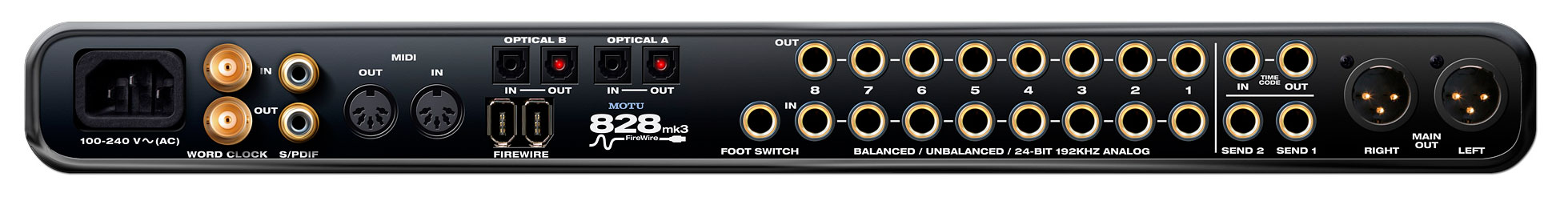 MOTU - 828 MK3 Advanced FireWire Audio Interface with DSP ...